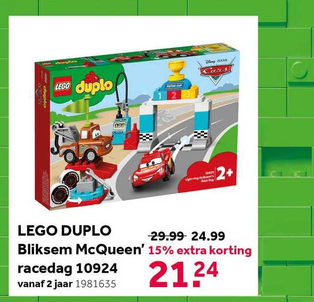 Intertoys Lego Duplo Bliksem McQueen' Racedag 10924