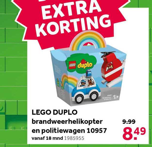 Intertoys Lego Duplo Brandweerhelikopter En Politiewagen 10957