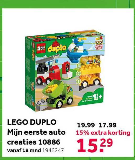 Intertoys Lego Duplo Mijn Eerste Auto Creaties 10886