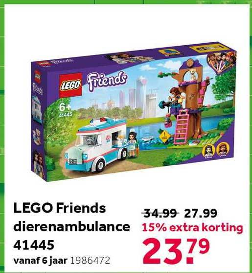 Intertoys Lego Friends Dierenambulance 41445 15% Extra Korting