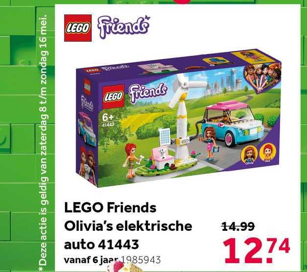 Intertoys Lego Friends Olivia's Elektrische Auto 41443