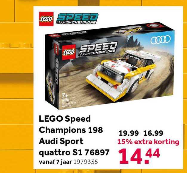 Intertoys Lego Speed Champions 198 Audi Sport Quattro S1 76897 15% Extra Korting