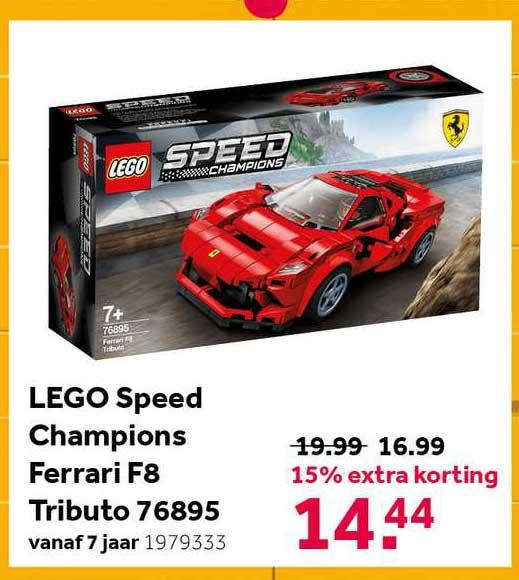Intertoys Lego Speed Champions Ferrari F8 Tributo 76895 15% Extra Korting