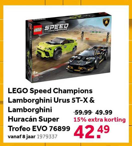 Intertoys Lego Speed Champions Lamborghini Urus 4T-X & Lamborghini Huracán Super Trofeo EVO 76899