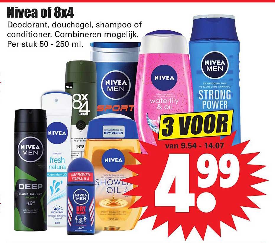 Dirk Nivea Of 8x4 Deodorant, Douchegel, Shampoo Of Conditioner