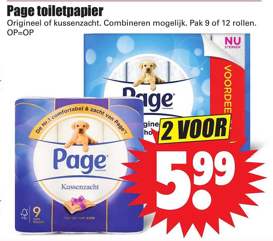Dirk Page Toiletpapier Origineel Of Kussenzacht