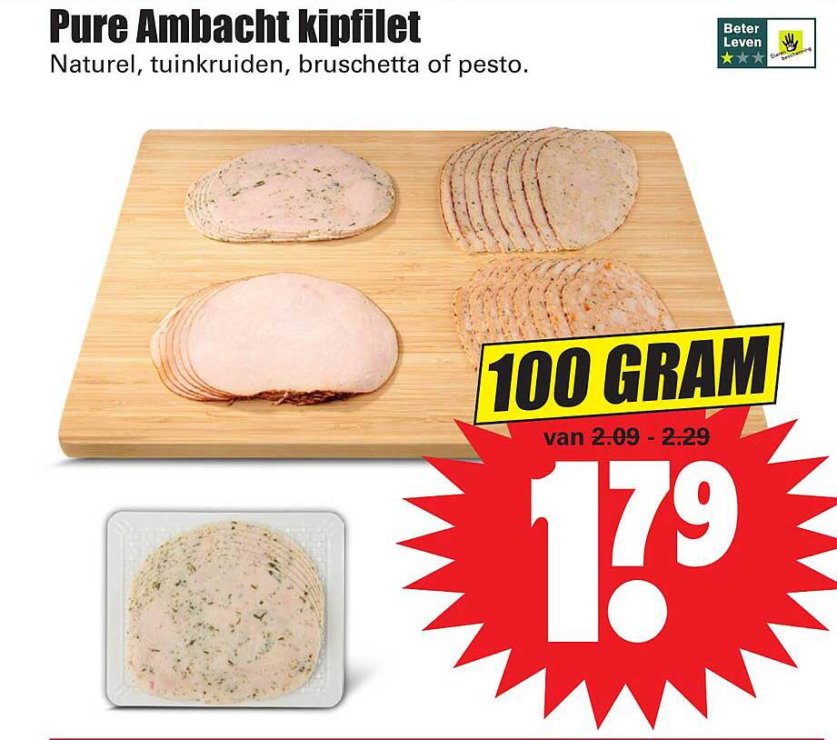 Dirk Pure Ambacht Kipfilet Naturel, Tuinkruiden, Bruschetta Of Pesto