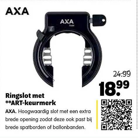 Plentyparts Ringslot Met ART-Keurmerk AXA