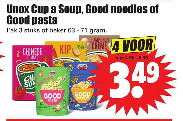 Dirk Unox Cup A Soup, Good Noodles Of Good Pasta