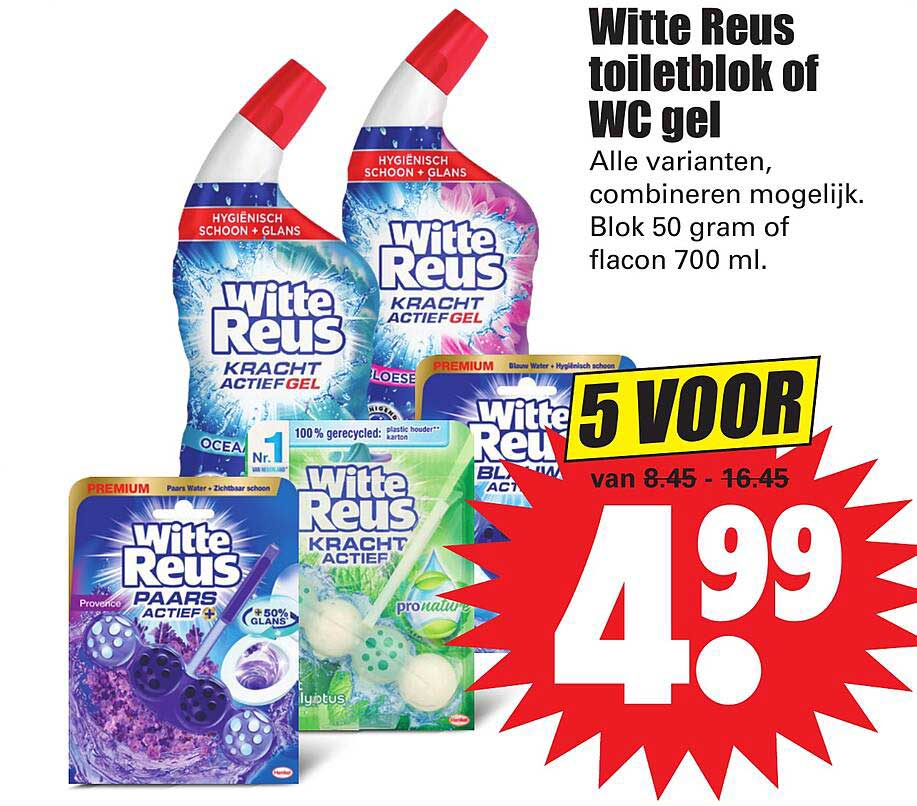 Dirk Witte Reus Toiletblok Of WC Gel