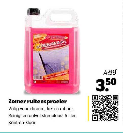 Plentyparts Zomer Ruitensproeier