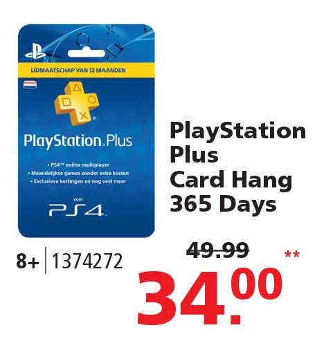 Intertoys Playstation Plus Lidmaatschap Van 12 Maanden