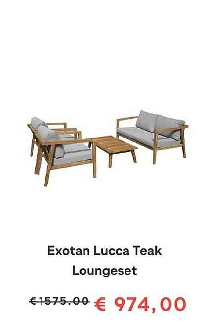 FonQ Exotan Lucca Teak Loungeset