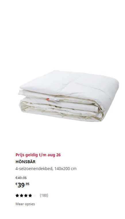 IKEA Honsbar 4 Seizoenendekbed