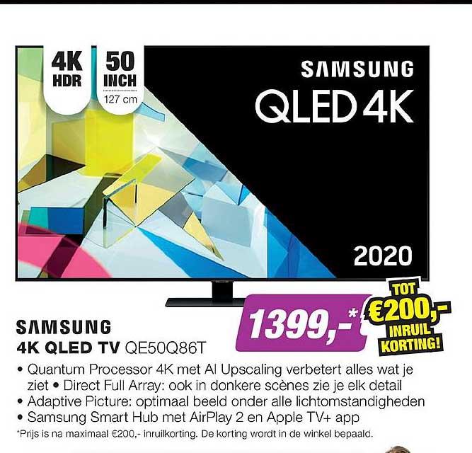 EP Samsung 4K QLED TV QE50Q86T