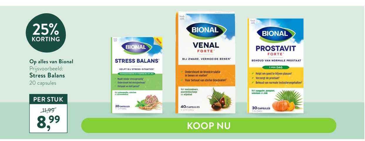 Holland & Barrett Bional Stress Balans 25% Korting