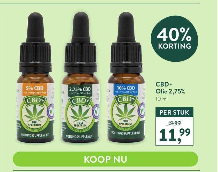 Holland & Barrett CBD+ Olie 2,75% 40% Korting