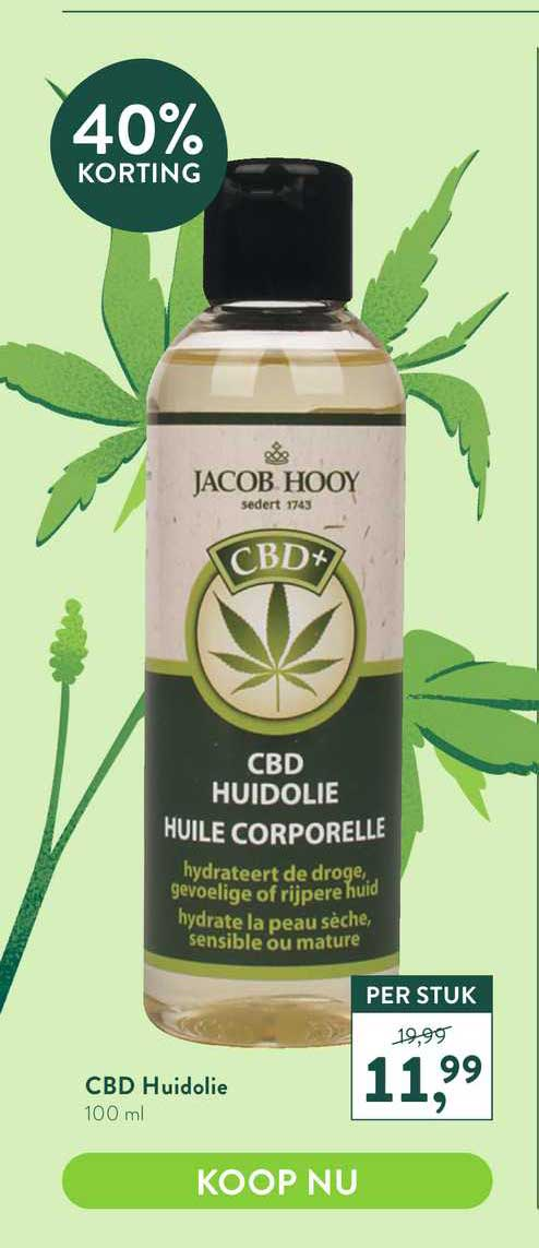 Holland & Barrett Jacob Hooy CBD Huidolie