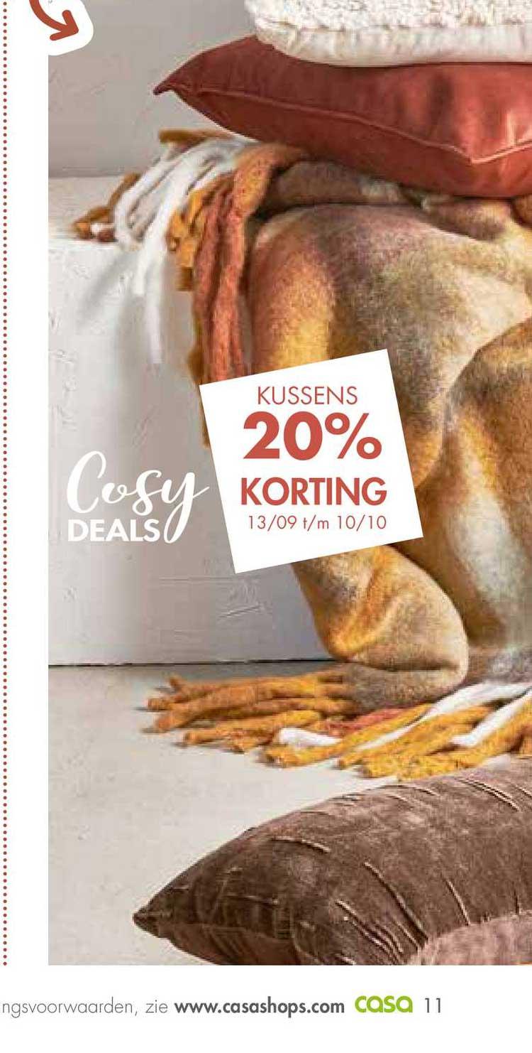 CASA Kussens 20% Korting