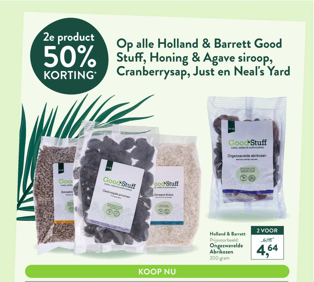 Holland & Barrett Op Alle Holland & Barrett Good Stuff, Honing & Agave Siroop, Cranberrysap, Just En Neal's Yard 50% Korting