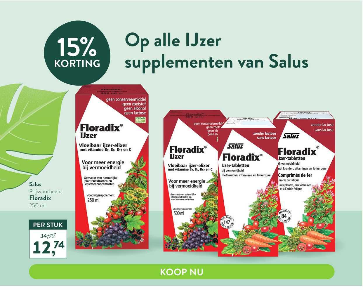 Holland & Barrett Op Alle Supplementen Van Salus 15% Korting
