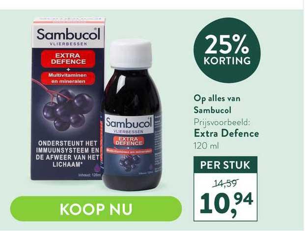 Holland & Barrett Op Alles Van Sambucol 25% Korting