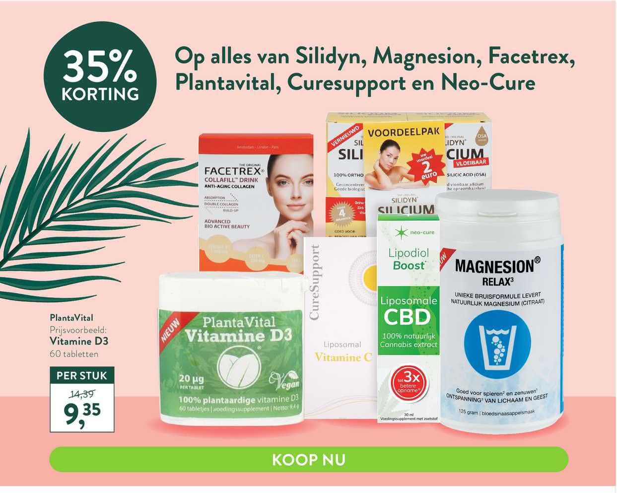 Holland & Barrett Op Alles Van Silidyn, Magnesion, Facetrex, Plantavital, Curesupport En Neo-Cure 35% Korting