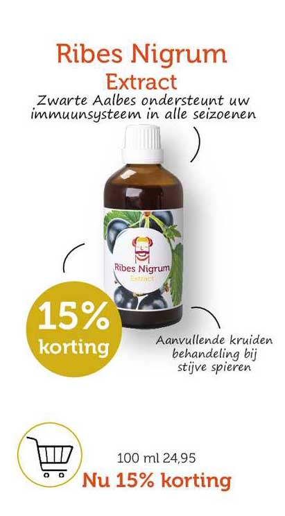 Rode Pilaren Ribes Nigrum Extract 15% Korting