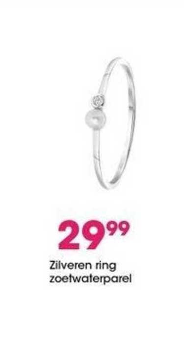 Lucardi Zilveren Ring Zoetwaterparel
