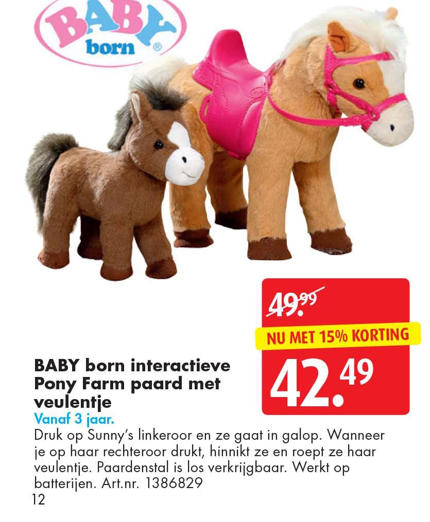 Bart Smit Baby Born Interactieve Pony Farm Paard Met Veulentje