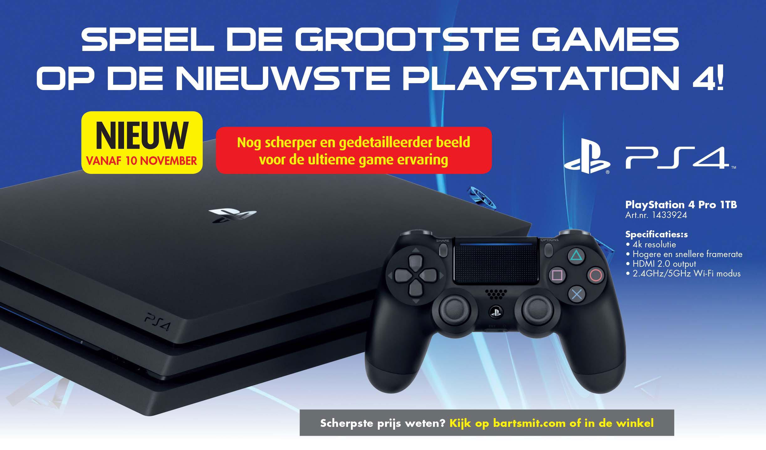 Bart Smit Playstation 4 Pro 1 TB
