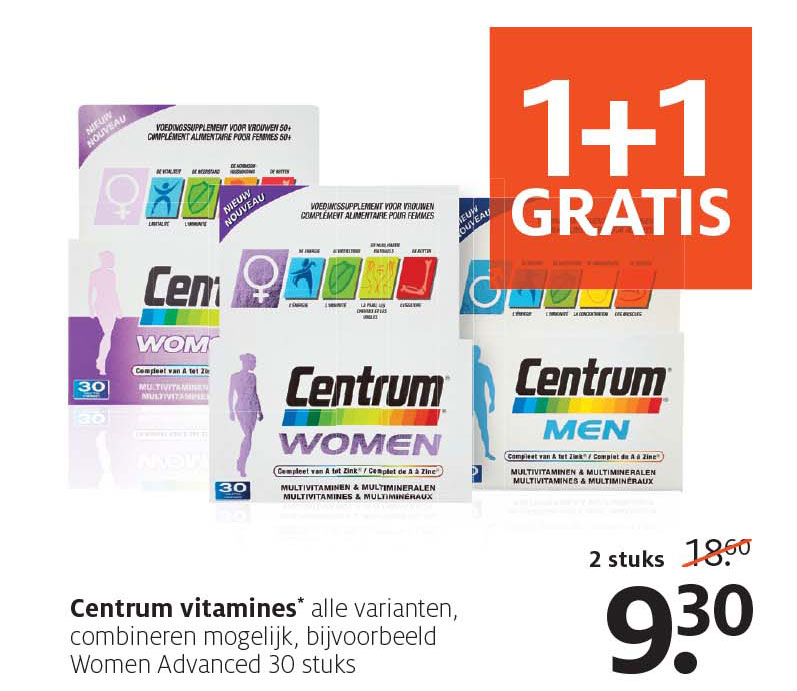 Etos Centrum Vitamines: 1+1 Gratis
