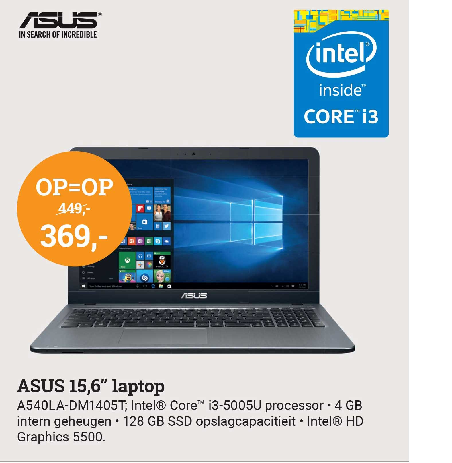 BCC Asus 15.6 Inch Laptop