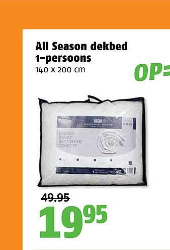 Poiesz All Season Dekbed 1-Persoons