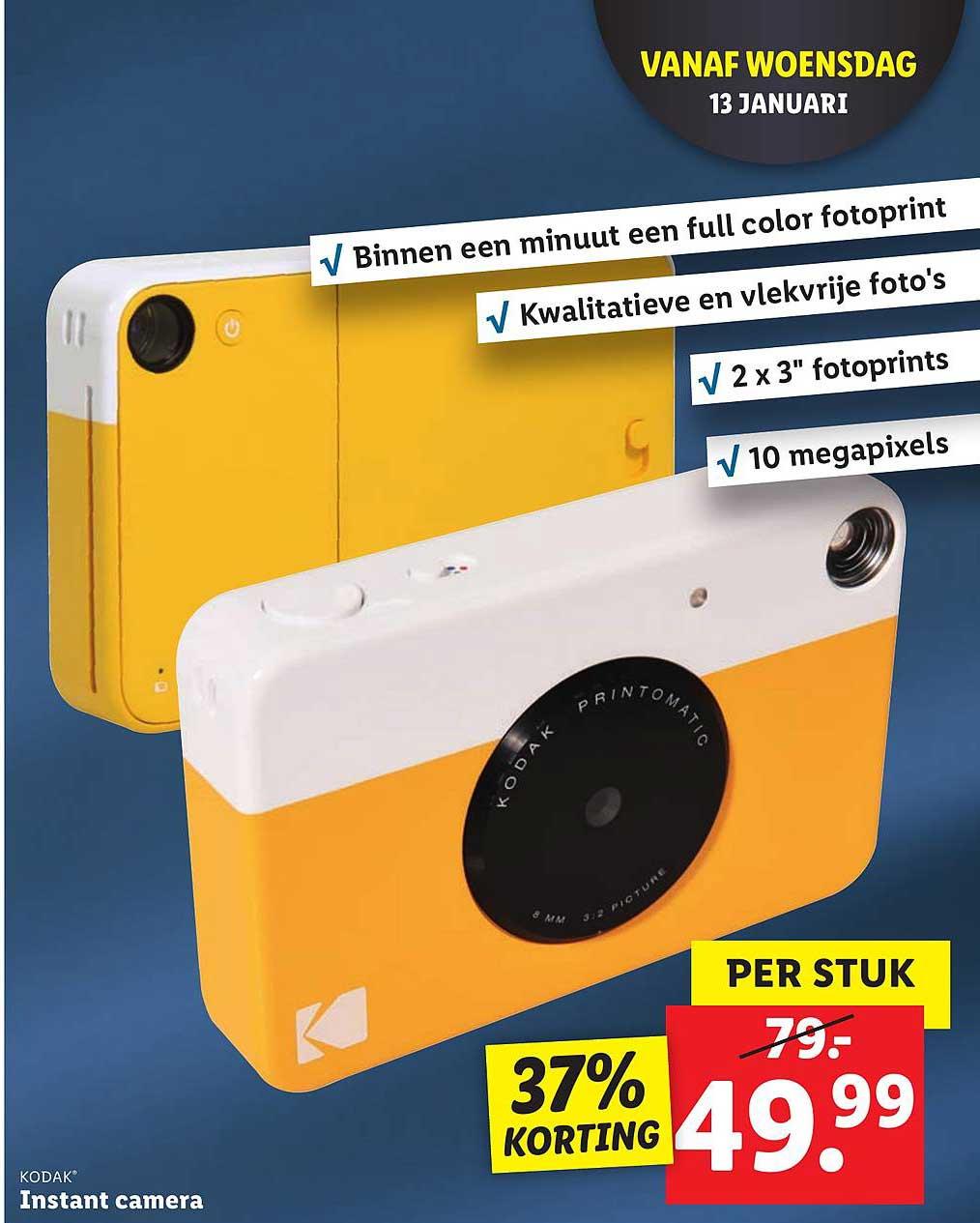 Lidl Kodak Instant Camera 37% Korting
