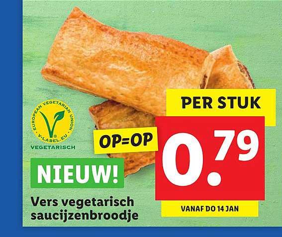 Lidl Vers Vegetarisch Saucijzenbroodje