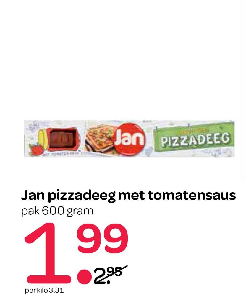 Spar Jan Pizzadeeg Met Tomatensaus