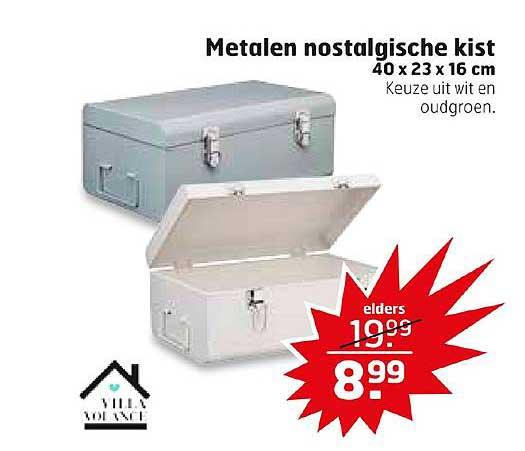 Trekpleister Metalen Nostalgische Kist