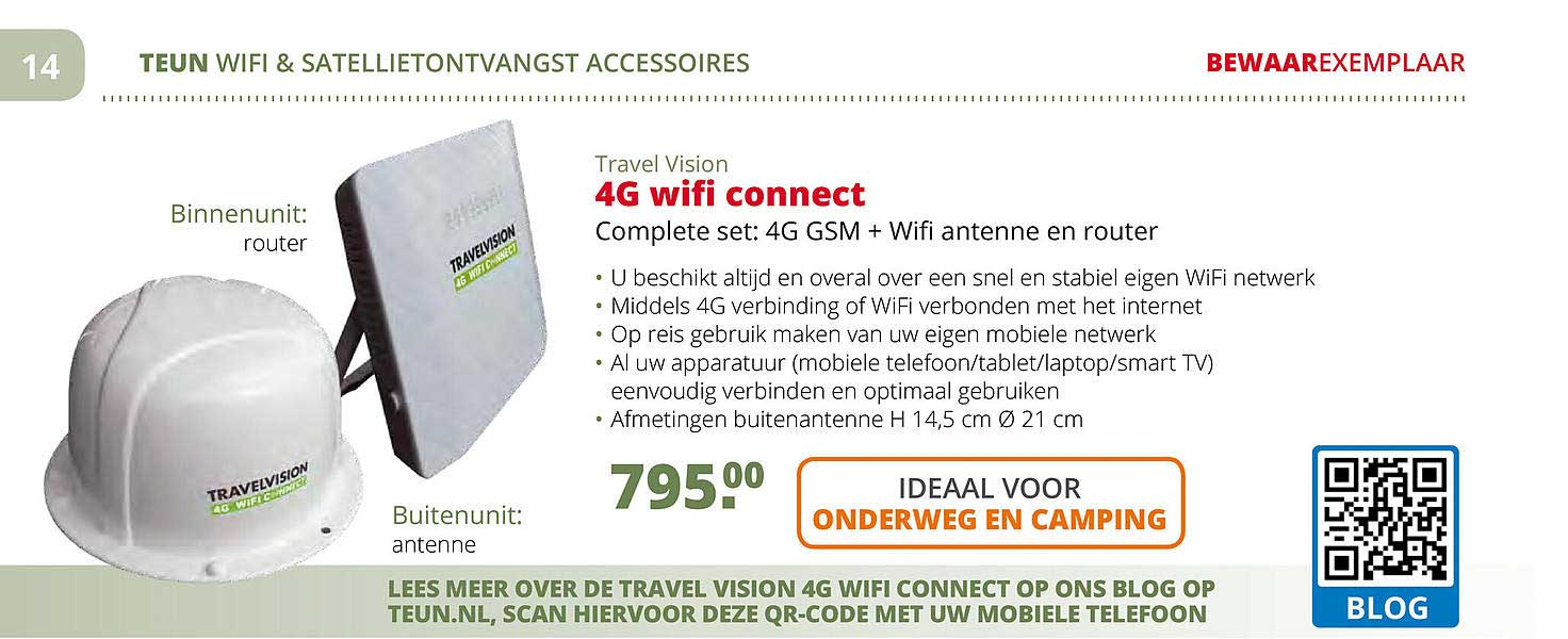 Teun Travel Vision 4G Wifi Connect