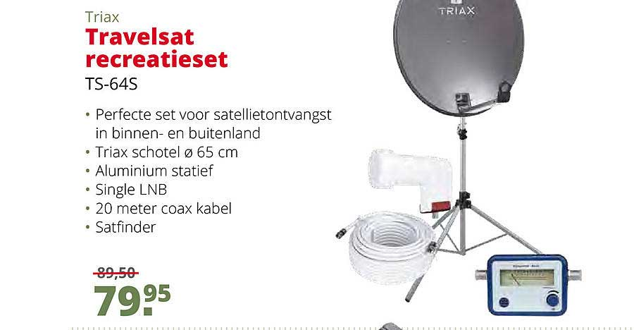 Teun Triax Travelsat Recreatieset TS-64S