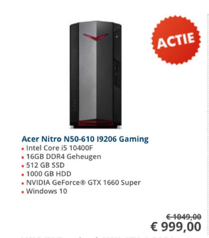 Informatique Acer Nitro N50-610 I9206 Gaming