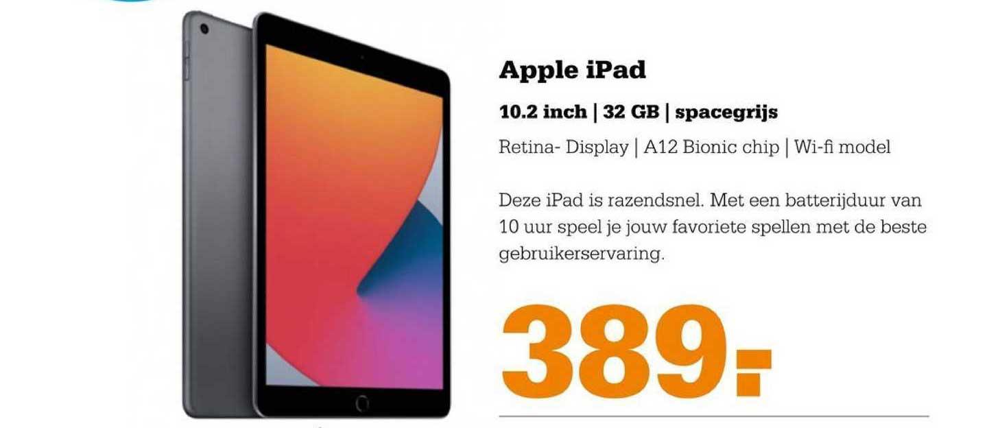 Telecombinatie Apple IPad 10.2 Inch | 32 GB | Spacegrijs