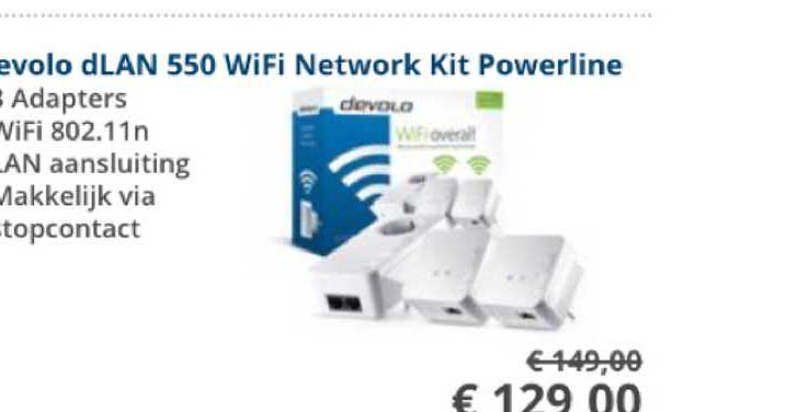 Informatique Devolo DLAN 550 Wifi Network Kit Powerline