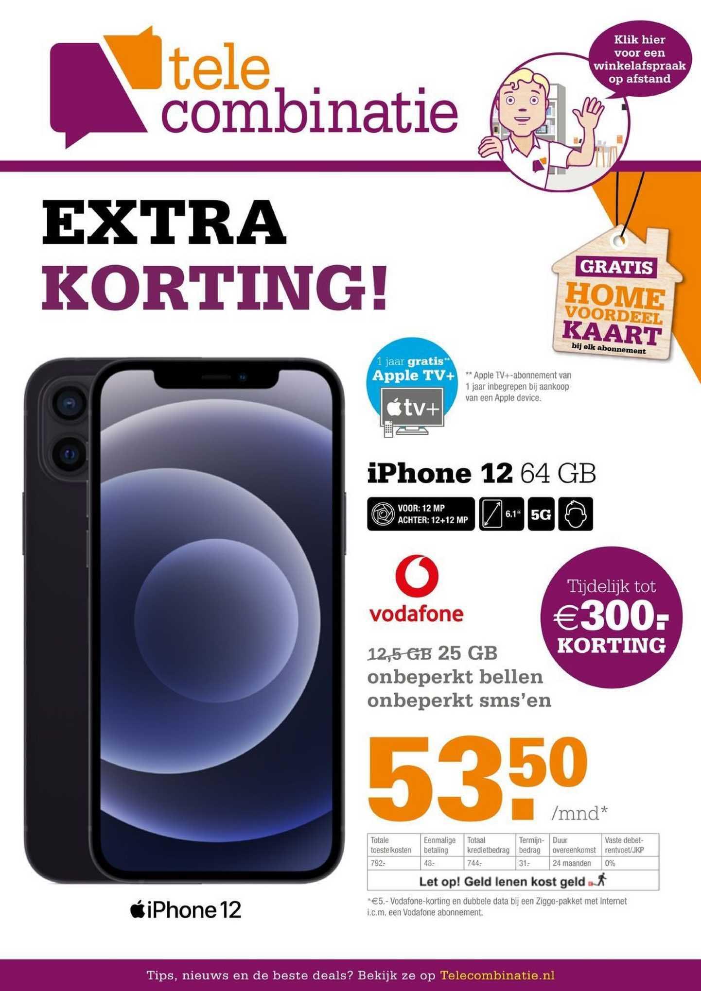 Telecombinatie IPhone 12 64 GB