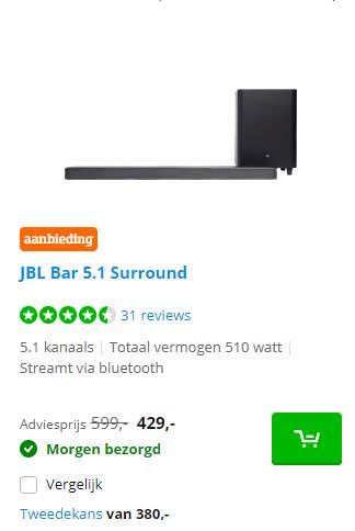 Coolblue JBL Bar 5.1 Surround