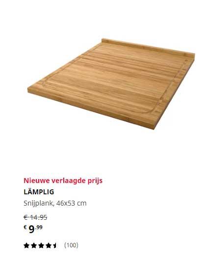 IKEA Lämplig Snijplank 46x53 Cm
