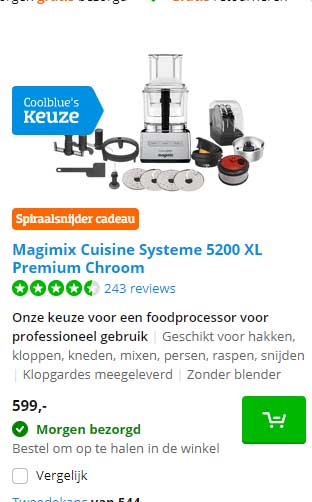 Coolblue Magimix Cuisine Systeme 5200 XL Premium Chroom