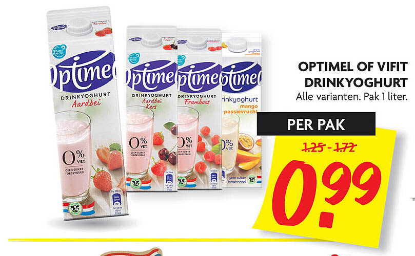 DekaMarkt Optimel Of Vifit Drinkyoghurt
