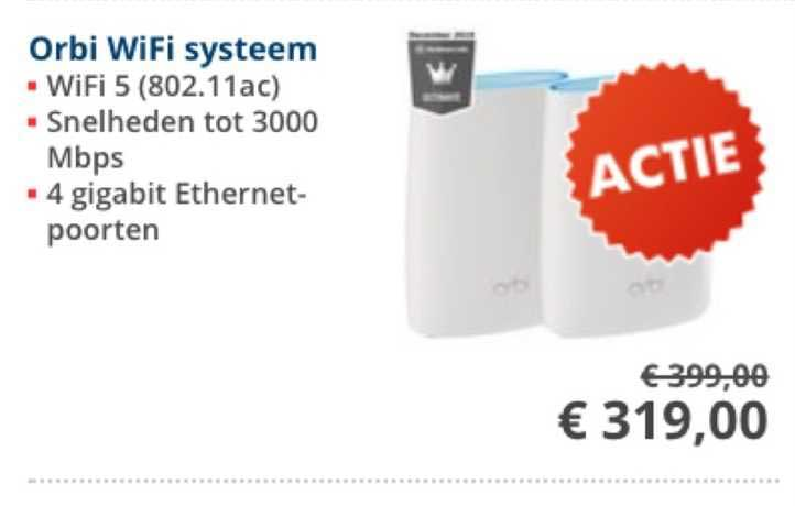 Informatique Orbi Wifi Systeem