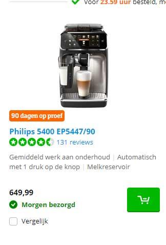 Coolblue Philips 5400 EP5447-90 Espresso Machine